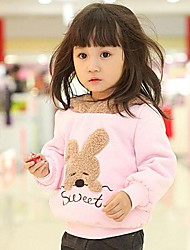 Girl's Hoodie & Sweatshirt,Cotton Blend Winter / Spring / Fall Pink / Gray