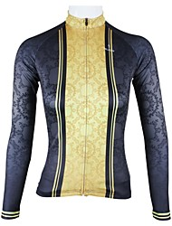 PALADIN Cycling Tops / Jerseys Women's Bike Breathable / Quick Dry Long Sleeve High Elasticity 100% Polyester Black / GoldXS / S / M / L