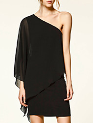 Haoduoyi Chiffon One Shoulder Dress