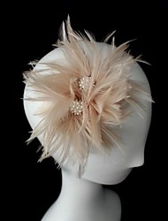 Women's Leather Headpiece-Wedding Special Occasion Fascinators