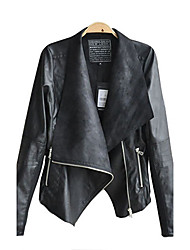 Z.Y.P Women's Hot Products Top Grade Customized Slim Leather Coat