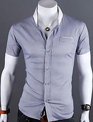 Manlodi Men's Short Sleeve Slim-Fitting Shirt