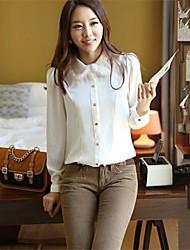 trabalhador lapela das mulheres camisa magro