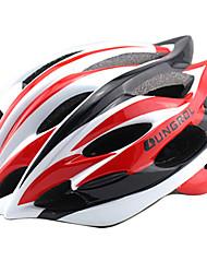 ungrol 24 respiraderos eps + blanco + rojo + pc negro integralmente moldeada super ligero casco en bicicleta (56-64cm)