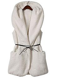 Zebra Women's Sleeveless Slim Fashion Hoodie Causual Thicken Waistcoat