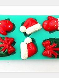 Christmas Gift Gloves Hat Fondant Cake Chocolate Silicone Mold