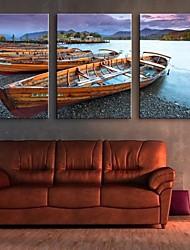 натянутым холстом искусство остановить корабль береговой декоративной живописи набор 3