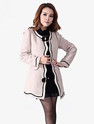 OSA ® Women's Winter Long Sleeve Bow Decoration Slim Woolen Outerwear