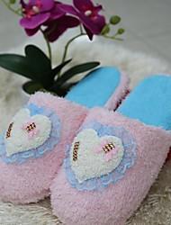 chaussures pour femmes à bout rond pantoufles talon plat de coton chaussures plus de couleurs disponibles