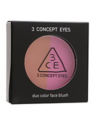 3 Concept Eyes  Duo Color Face Blush  #Miss Flower 5g
