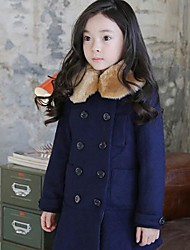 Girl's Cotton Jacket & Coat , Winter Long Sleeve