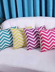 ensemble de 4 couleurs vives strié motif polyester taies d'oreiller décoratif