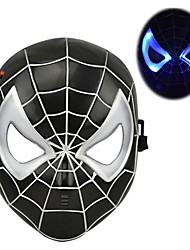 Cool Luminous LED Spiderman Mask for Halloween(Black&Red)