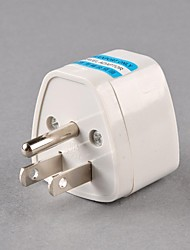 UK/ AU/ EU To US AC Power Travel Adapter Plug 3 Pin White Plastic Converter