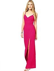 женская розовый тонкий платье макси