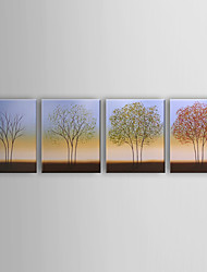 Hand-painted Oil Painting Landscape Oversized Landscape Set of 4