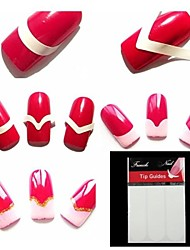 540PCS Nail Lines Painting Tips Stickers Tools Files &Implements for French Nail Art Decorations