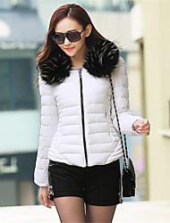 Women's Korean Solid Color Fur Collar Short Coat(More Colors)