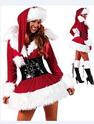 navidad traje extravagante terciopelo adulta de la mujer