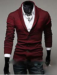 X-MAN Men's Lapel Collar Joint Knit Shirt