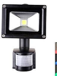 Projecteurs Capteur Rouge / Bleu / Vert 10 W 1 LED Haute Puissance 900 LM AC 85-265 V