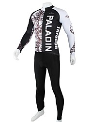 PALADIN Cycling Clothing Sets/Suits Men's Bike Breathable / Quick Dry Long Sleeve 100% Polyester Dark Gray / BlackS / M / L / XL / XXL /