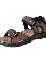 Men's Sports Sandals Shoes Leather Black/Brown