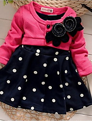 Girl's Multi-color Dress Cotton Blend Winter / Fall