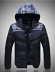 мужская мода хлопка проложенный одежды капот верхняя одежда
