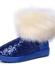 botas de los zapatos de nieve de las mujeres del talón bajo botines más colores disponibles