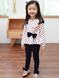 Girl's Blue / Pink Clothing Set Cotton Blend Winter / Fall / Spring