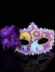 elegante pizzo fiore maschera veneziana delle donne