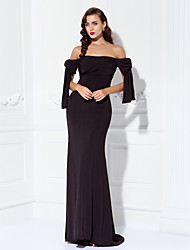 TS Couture® Prom / Formal Evening / Military Ball Dress - Sexy / Open Back / Elegant Plus Size / Petite Sheath / Column Off-the-shoulder