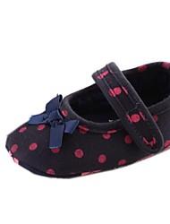 Chaussures bébé Robe Coton Ballerines Noir