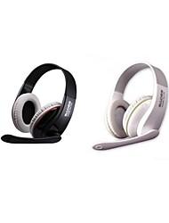 Sades sa-701 auriculares de 3,5 mm en materia de juego oreja con micrófono y control remoto para PC