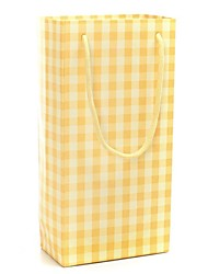 Yellow Grid Pattern Gift Bags