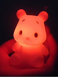 comodo Winnie the Pooh luz de noche LED de colores