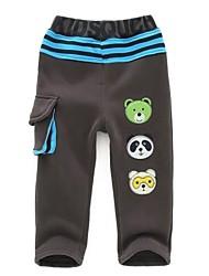 ragazzo è in pantaloni lunghi primavera e autunno vestito 100% cotone ricamo