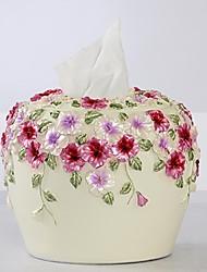 hoshine® boîte nouveauté moderne pensée de style fleur de polyresin de tissu ronde