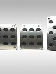tirol aluminio freno antideslizante general de pedales coche manual cubren 3pcs reposapiés acelerador seguridad antideslizante / lot