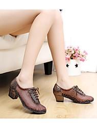 sandali delle donne latino tacco basso scarpe da paillette di ballo (più colori)