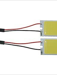 carking ™ t10 / BA9S / feston 28mm ~ 40mm 3.4W 24 LED COB voiture blanche plafonnier lumière (x2)