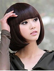 Lady Fashion Short Straight BOB Head Straight Bang Cosplay Costume Party Full wigs