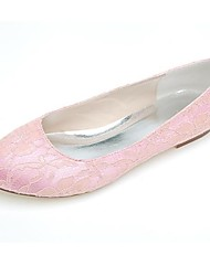 Women's Wedding Shoes Round Toe Flats Wedding/Casual/Party & Evening Black/Blue/Pink/Ivory/White