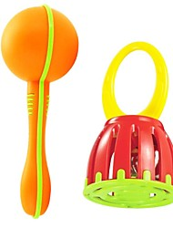 High Quality Baby Musical Instrument Combination Sand Hammer and Handle Cage Ring Bell Toys Educational Toys