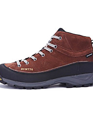 Men's Hiking Shoes Leather Brown/Green/Navy