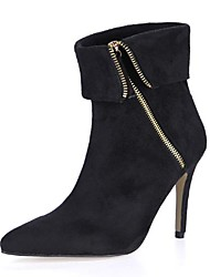 Women's Shoes Pointed Toe   Stiletto Heel  Mid-Calf Boots  with Zipper