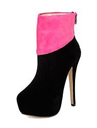 das mulheres sapatos botas de moda plataforma de salto agulha ankle boots mais cores disponíveis