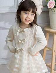 Girl's Dress,Solid Cotton Winter / Fall / Spring