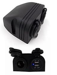 prise allume-cigare universel étanche 12v-24v avec 5v 2.1a recharge USB pour voiture moto yacht navire